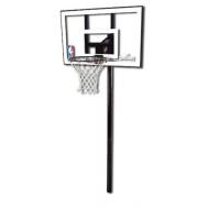 """Баскетбольная стойка (стационарная) Spalding Silver in-ground 44"""" 88596CN"""